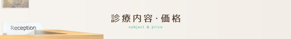 診療内容・価格